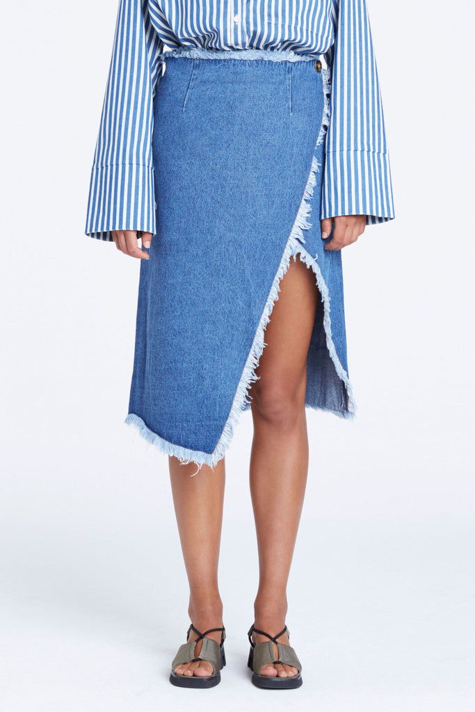 Zulu and Zephyr Panorama Denim Skirt - Call Me The Breeze - 3