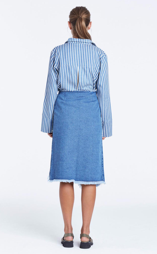 Zulu and Zephyr Panorama Denim Skirt - Call Me The Breeze - 5