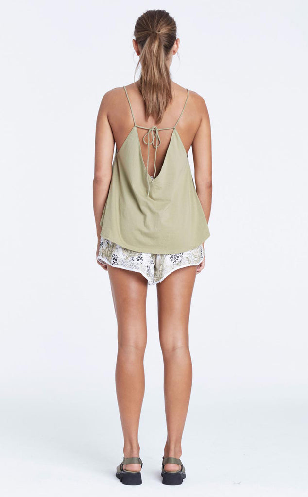 Zulu and Zephyr Sacred Valley Cami Olive - Call Me The Breeze - 2