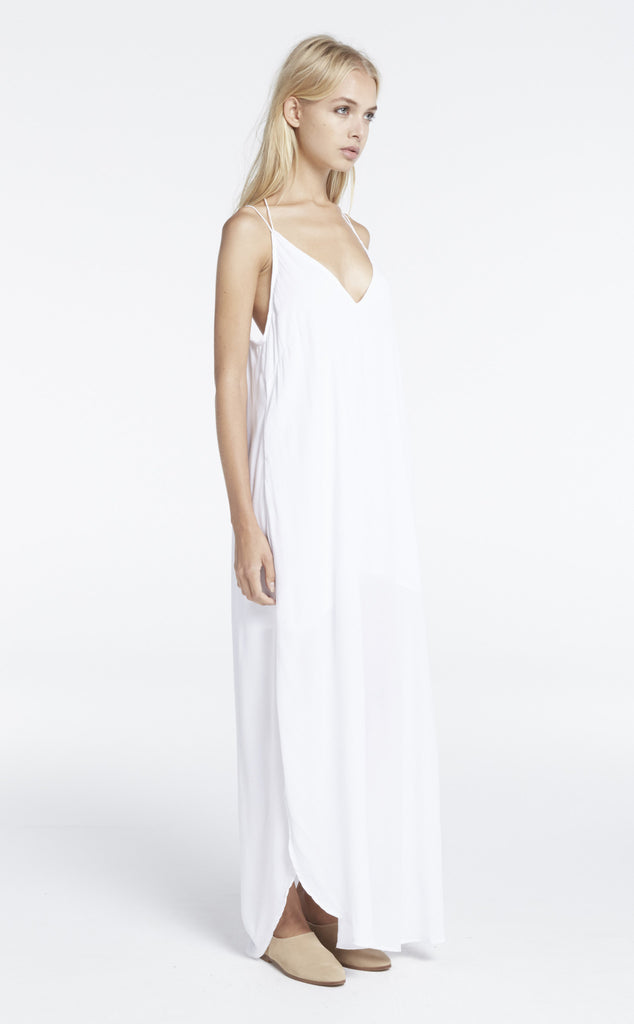 Zulu and Zephyr Dip Dress White - Call Me The Breeze - 4