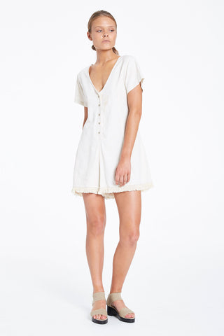 Zulu and Zephyr Dust Tassel Playsuit Natural