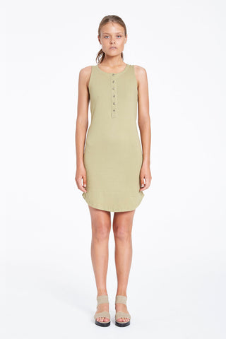 Zulu and Zephyr Dew Slip Dress Khaki