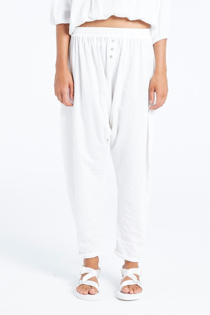 Zulu and Zephyr Fern Pant White