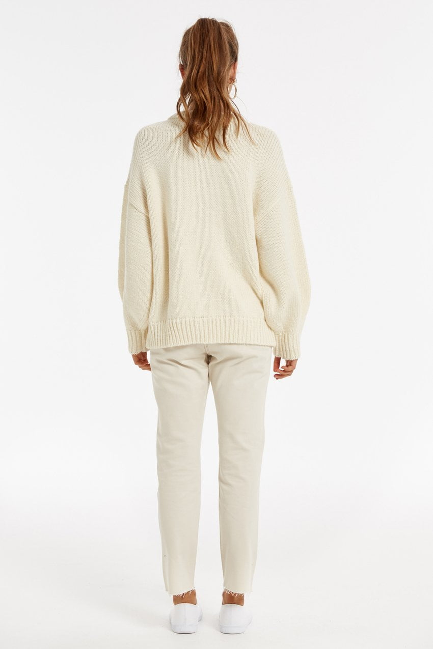 Zulu and Zephyr Lush Jumper Warm White