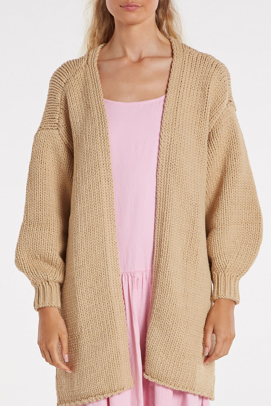 Zulu and Zephyr Harvest Cardigan Camel