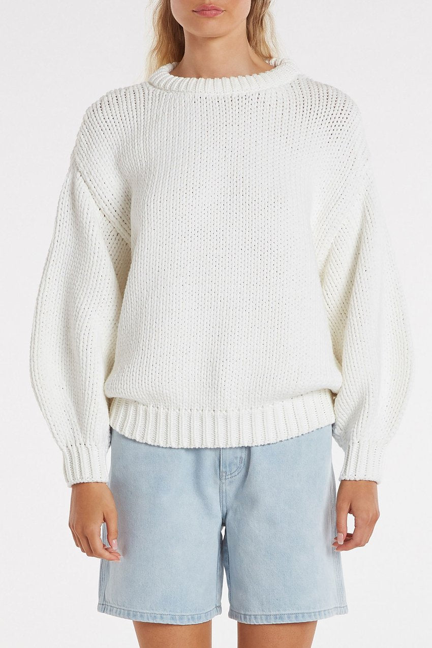 Zulu and Zephyr Entwined Jumper White
