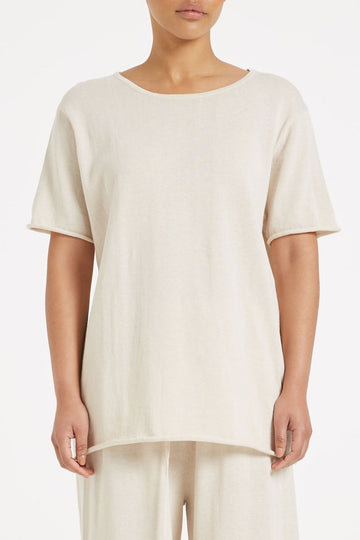 Zulu and Zephyr Lounge Knit Tee Beige
