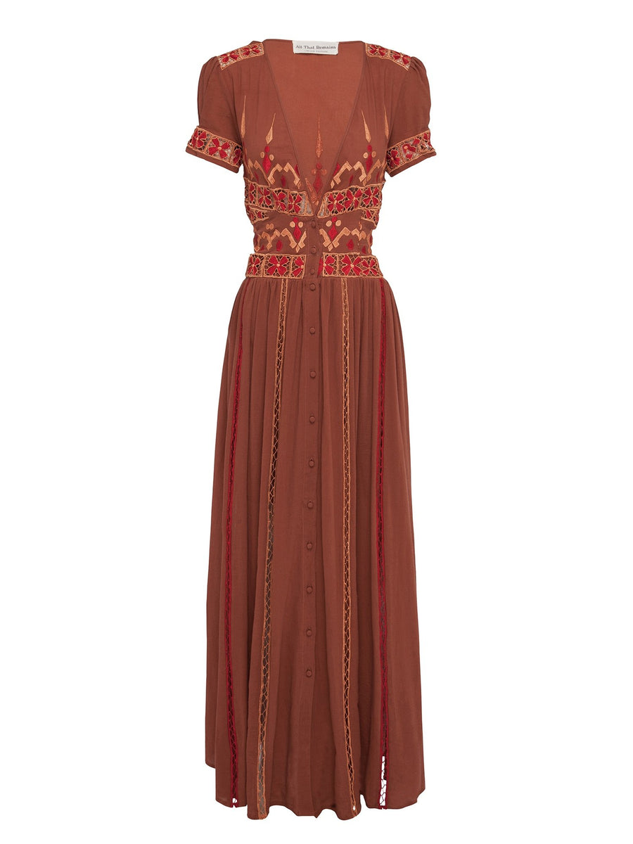 All That Remains Amelia Dress Ochre