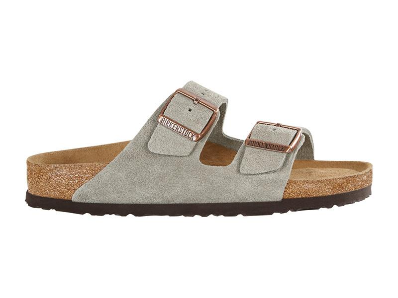 Birkenstock Arizona Taupe Suede Leather Regular