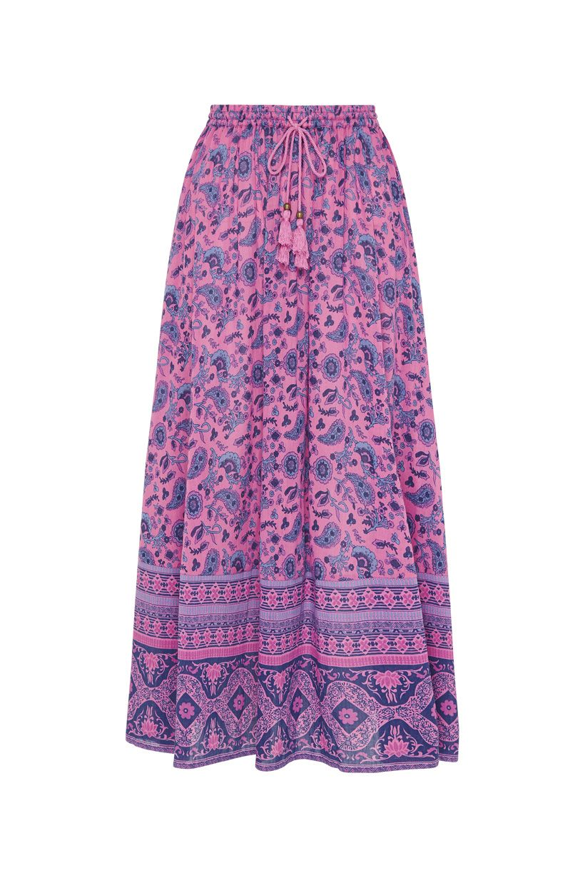 Spell Journey Midi Skirt Mulberry