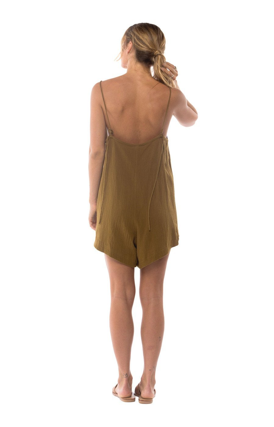 The Bare Road Bay Playsuit Fawn