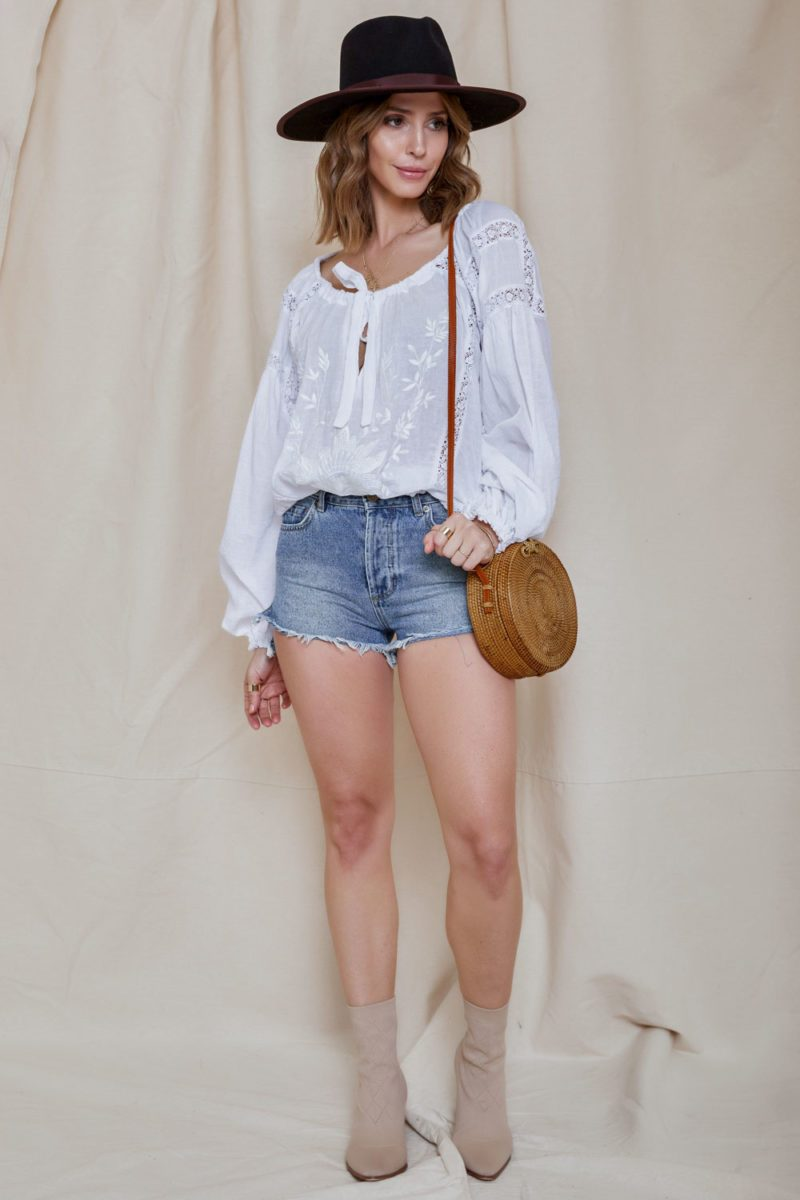 Free People Maria Maria Lace Blouse