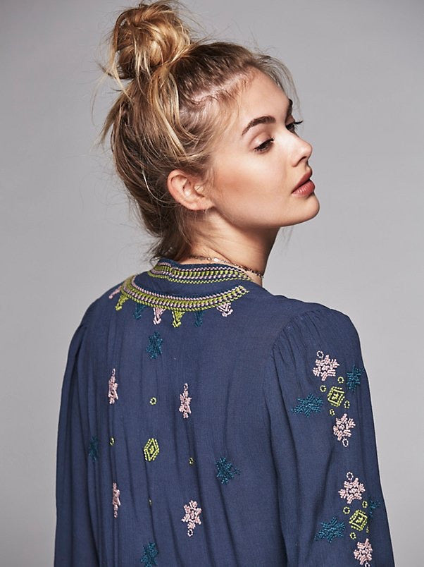 Free People Stargazer Dress Blue - Call Me The Breeze - 2