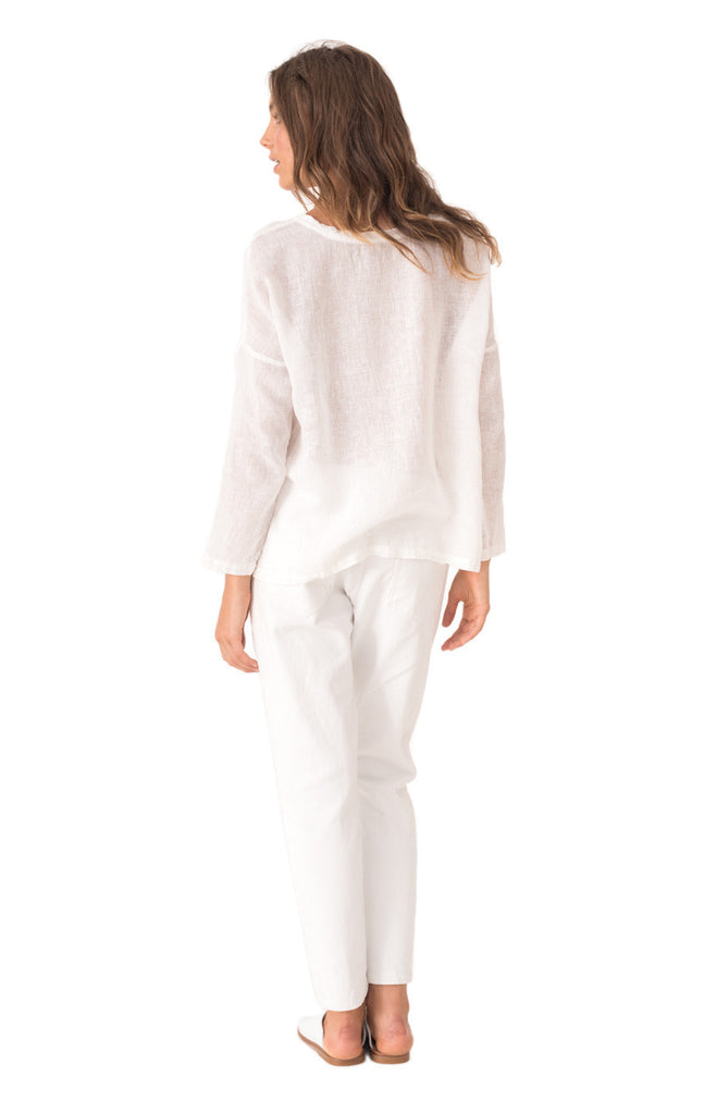 The Bare Road Cali Long Sleeve Top White - Call Me The Breeze - 3