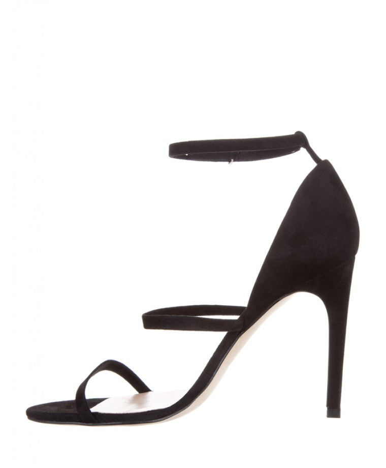 Mode Collective Triple Strap Sandal Black Suede - Call Me The Breeze - 4