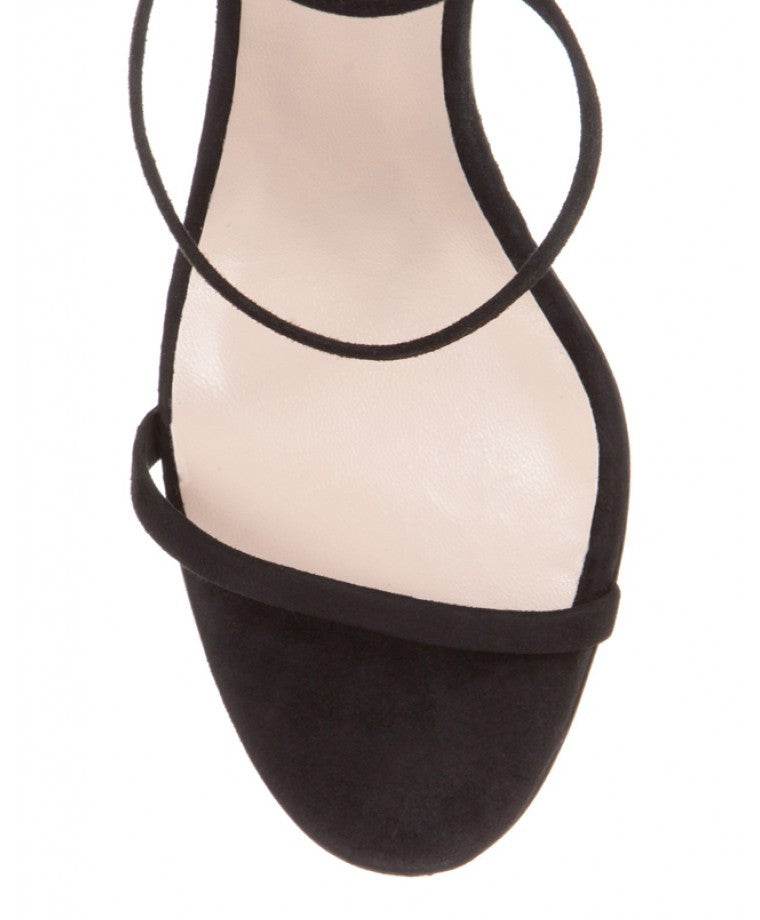 Mode Collective Triple Strap Sandal Black Suede - Call Me The Breeze - 5