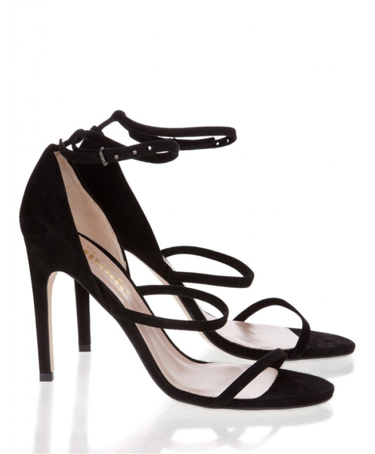 Mode Collective Triple Strap Sandal Black Suede - Call Me The Breeze - 2