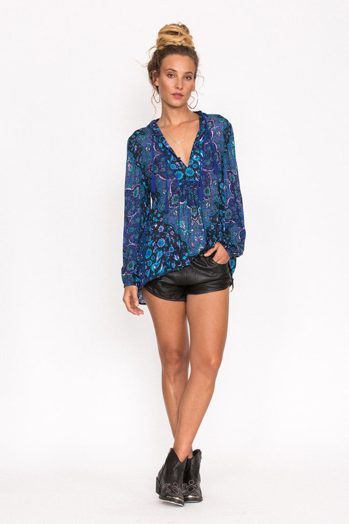 Spell Kiss The Sky Blouse Bluejay - Call Me The Breeze - 3