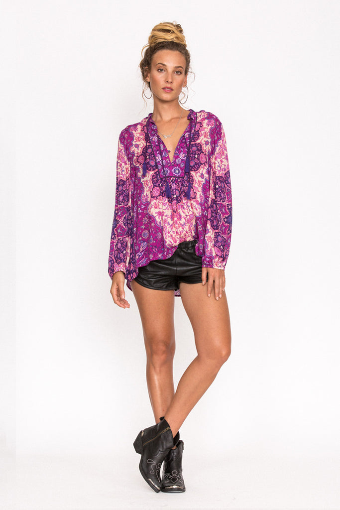 908ea0cd55b39 Spell Kiss The Sky Blouse Violet – Call Me The Breeze
