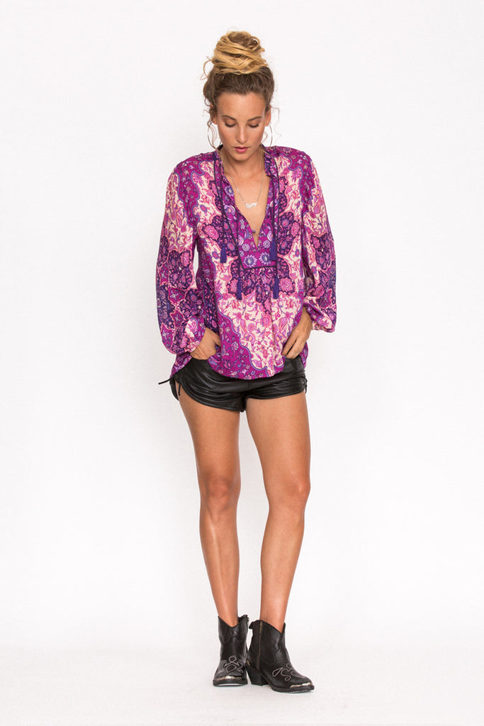 Spell Kiss The Sky Blouse Violet - Call Me The Breeze - 2
