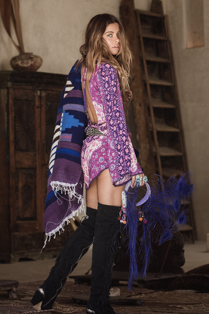 Spell Kiss The Sky Bell Sleeve Mini Violet - Call Me The Breeze - 2