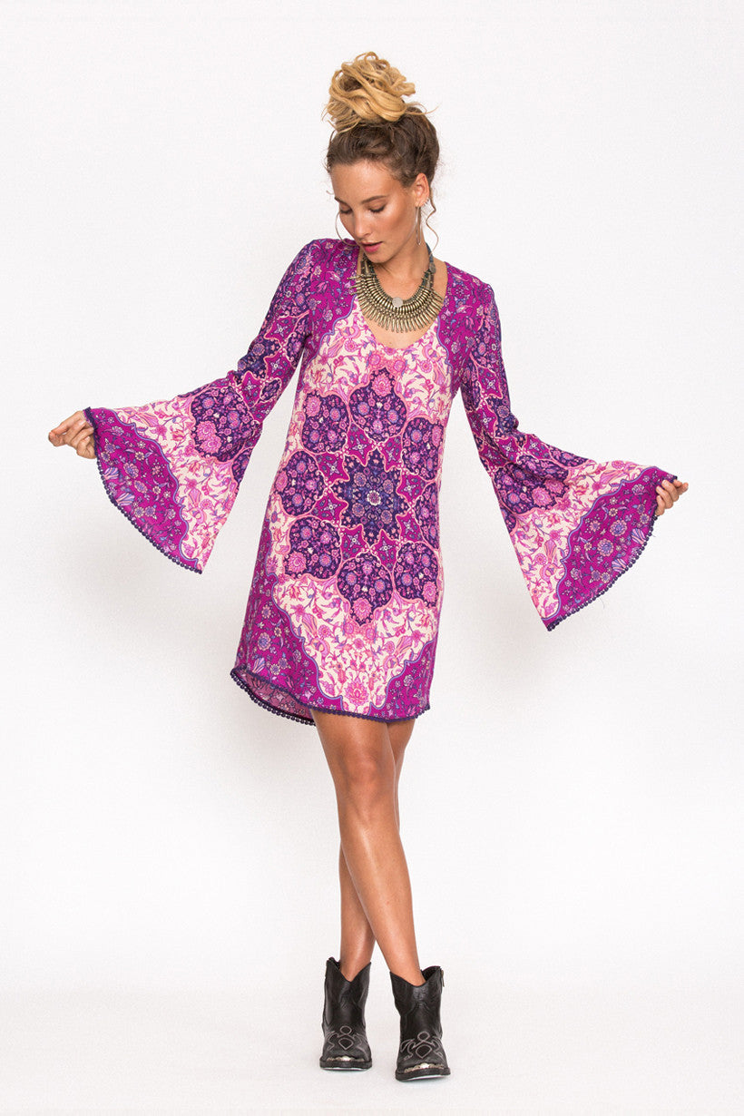 Spell Kiss The Sky Bell Sleeve Mini Violet - Call Me The Breeze - 4