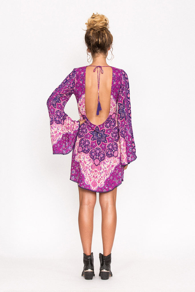 Spell Kiss The Sky Bell Sleeve Mini Violet - Call Me The Breeze - 5