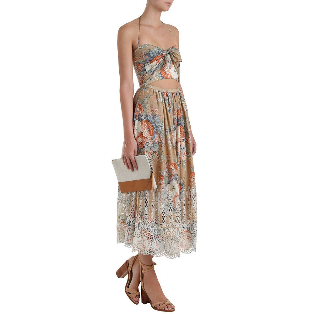 Zimmermann Anais Floral Tie Dress - Call Me The Breeze - 8