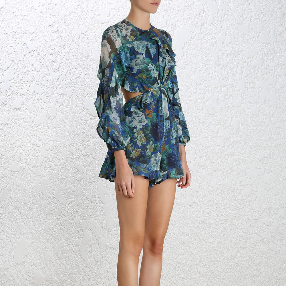 Zimmermann Esplanade Flute Playsuit Floral - Call Me The Breeze - 4