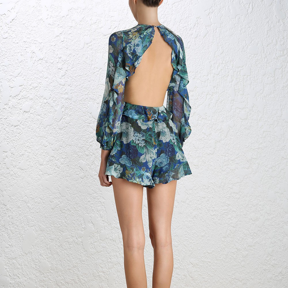 Zimmermann Esplanade Flute Playsuit Floral - Call Me The Breeze - 5
