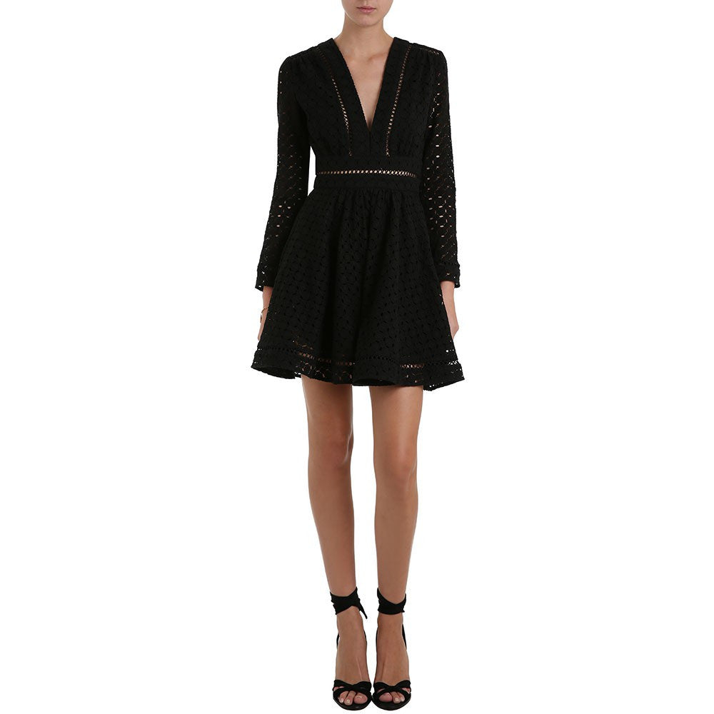 Zimmermann Ryker Broderie Dress Noir - Call Me The Breeze - 2