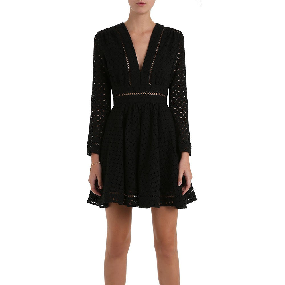 Zimmermann Ryker Broderie Dress Noir - Call Me The Breeze - 3
