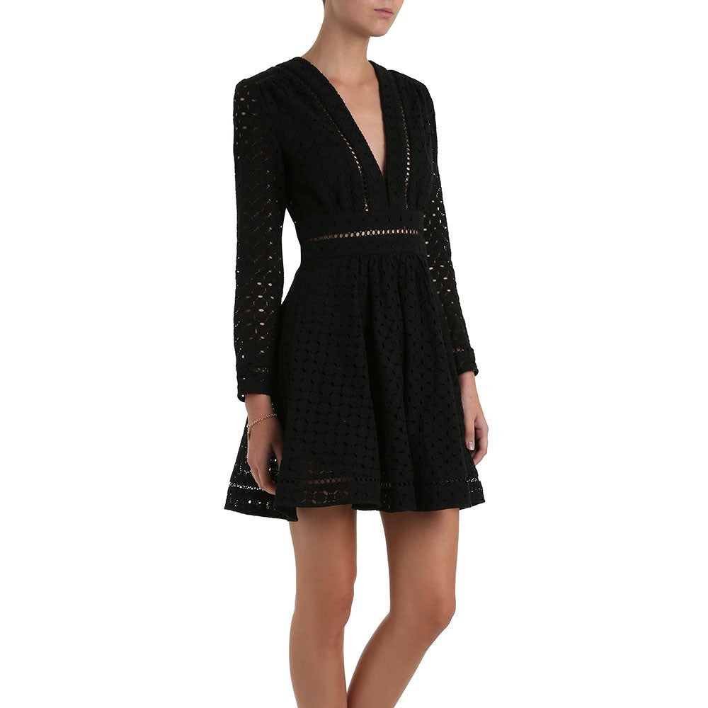 Zimmermann Ryker Broderie Dress Noir - Call Me The Breeze - 4