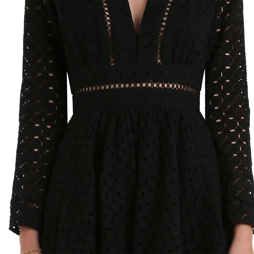 Zimmermann Ryker Broderie Dress Noir - Call Me The Breeze - 6