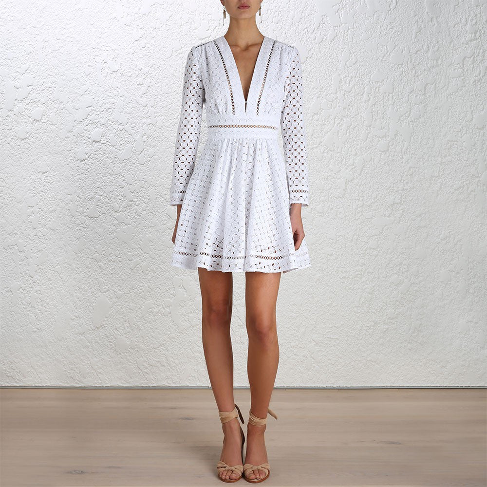 Zimmermann Ryker Broderie Dress White - Call Me The Breeze - 2