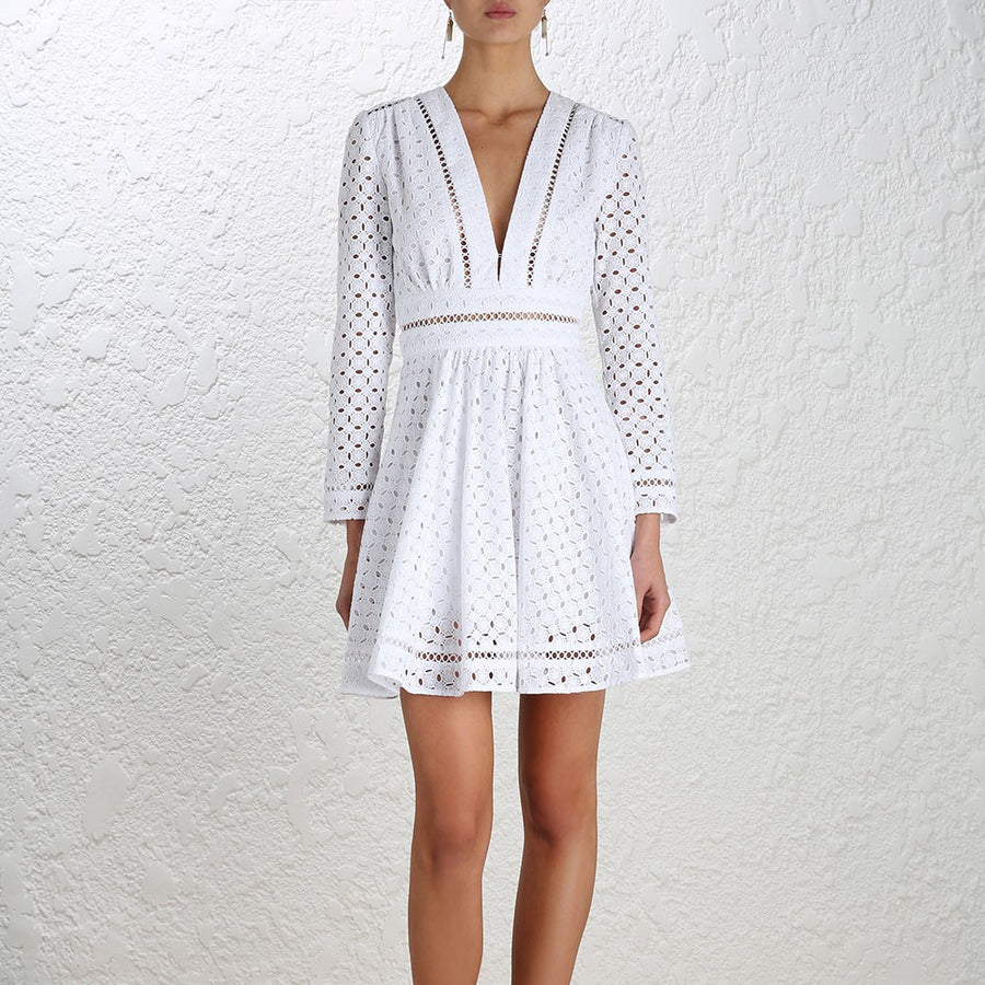 Zimmermann Ryker Broderie Dress White - Call Me The Breeze - 3