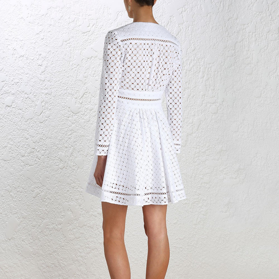 Zimmermann Ryker Broderie Dress White - Call Me The Breeze - 5