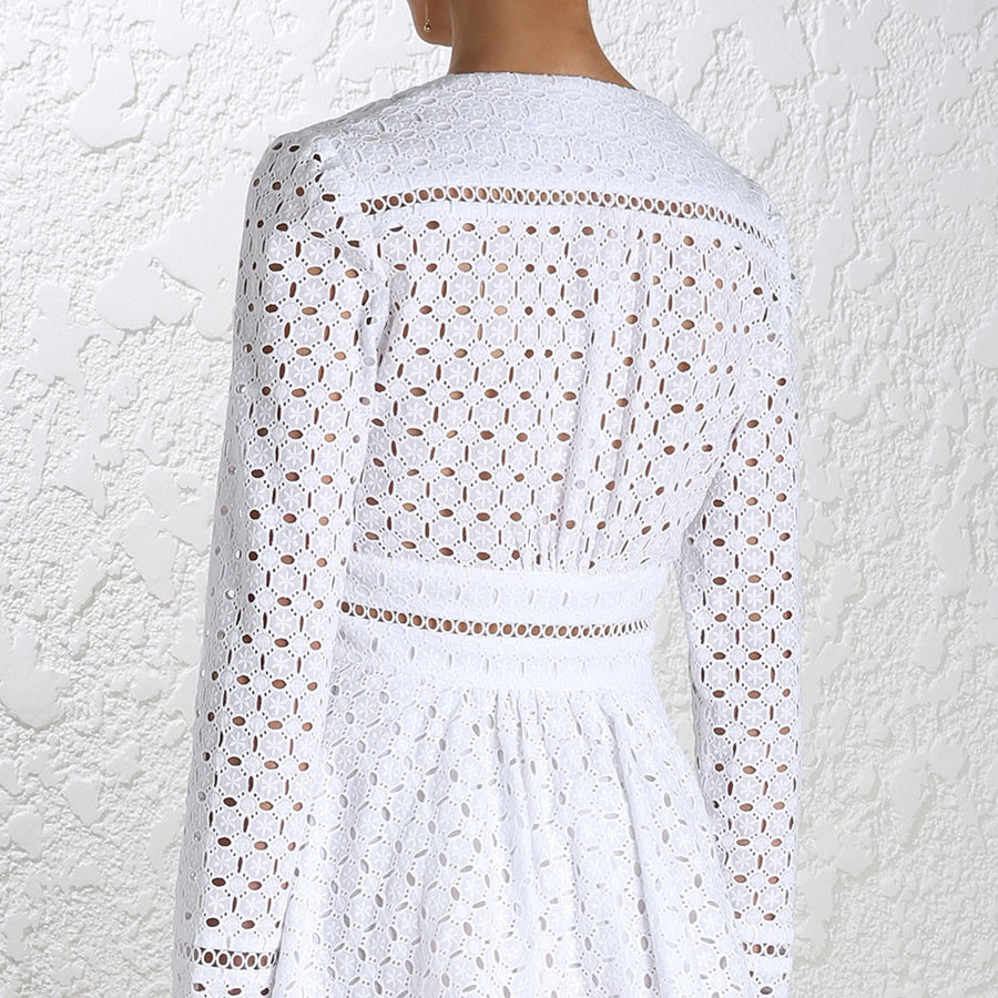 Zimmermann Ryker Broderie Dress White - Call Me The Breeze - 7