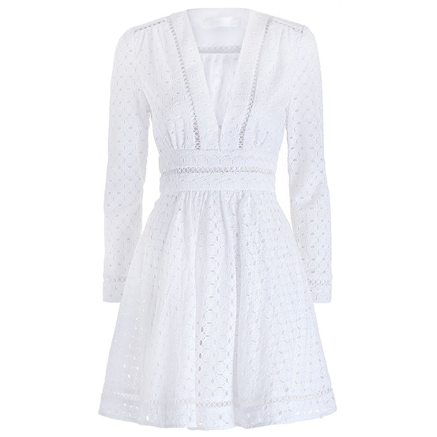 Zimmermann Ryker Broderie Dress White - Call Me The Breeze - 1