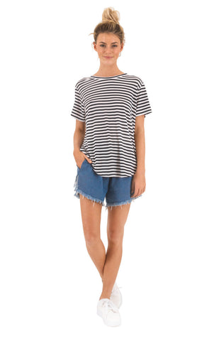 The Bare Road Classic Tee Mimi Stripe
