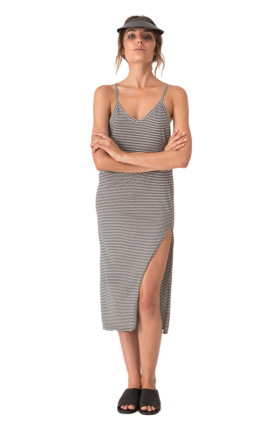 6c10b2f0ad0 The Bare Road Cotton Cami Dress Tilly Black Stripe - Call Me The Breeze - 1  ...
