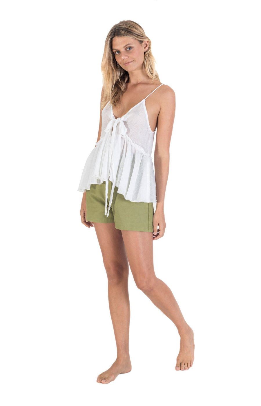 The Bare Road Cruise Top White