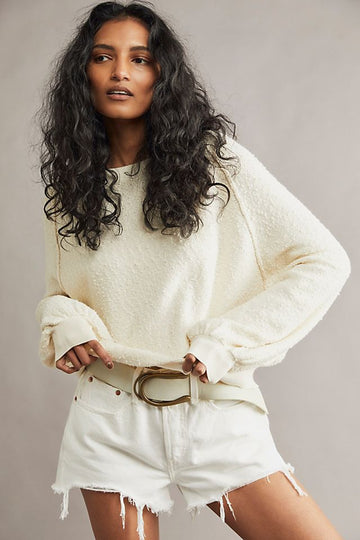 Free People Found My Friend Pullover Cream