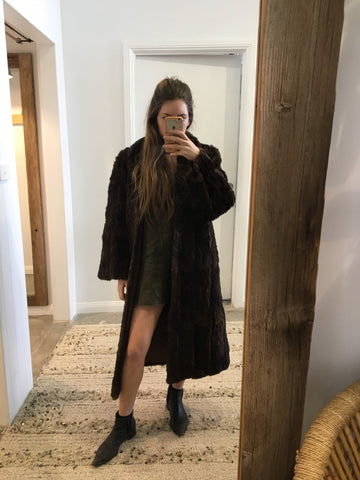 Vintage Fur Coat Chocolate