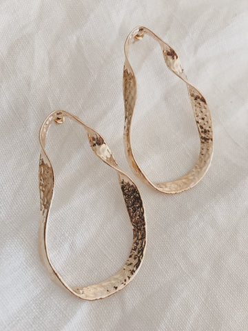 Call Me The Breeze Clementine Hoop Earrings Gold