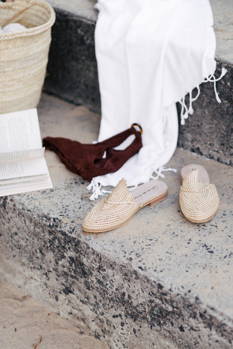 Call Me The Breeze Scout Raffia Loafers Natural // PREORDER