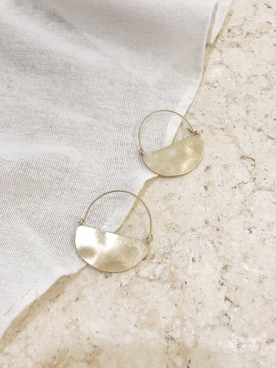 Giselle Hoop Earrings Gold