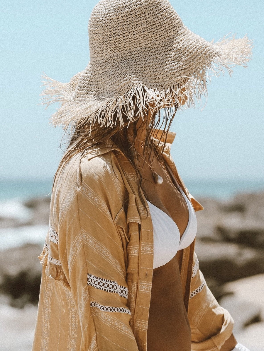 Paloma Straw Fringed Hat
