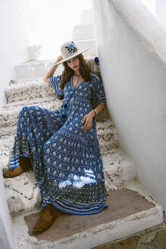 Spell Oracle Maxi Dress Indigo - Call Me The Breeze - 2
