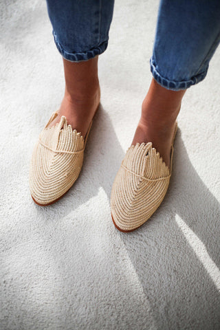 Call Me The Breeze Scout Raffia Loafers Natural